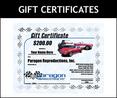 Get the perfect gift for the Corvette enthusiast in your life with a Paragon Gift Certificate!